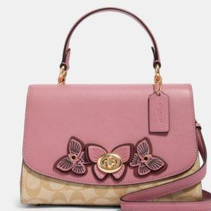 Coach Tilly Top Handle In Sing Canvas With Btfly